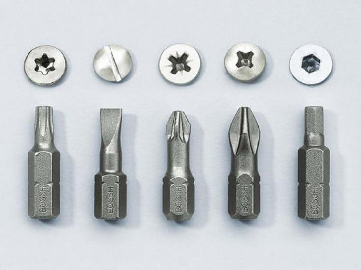 Materiały do końcówek wkrętarek/śrubokrętów