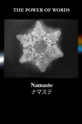 Namaste to starożytne sanskryckie pozdrowienie i struktura wody